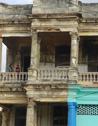 Havana, Cuba, is filled with once classically beautiful but now crumbling mansions. Photo courtesy of Philip Courter